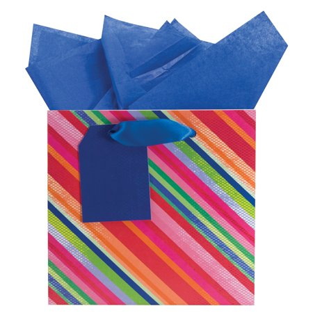 The Gift Wrap Company Salsa Striped Small Bag, 1 Ct