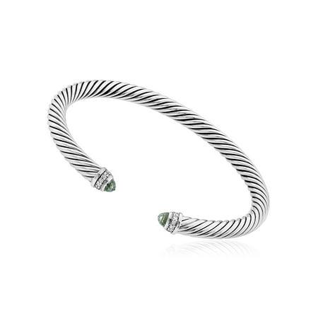 - David Yurman Cable Classics Prasiolite & Diamonds Bracelet B04182SSAPLDI