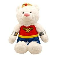 Enesco DC Comics Superhero Stuffed Animal Plush Teddy Bear (19 - 21 in) Fuzzy Polyester Blend (Wonder Woman)