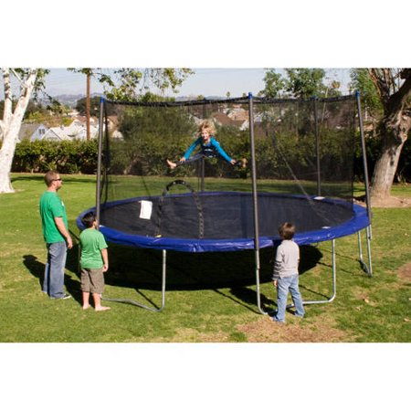 Image of Airzone 12; Trampoline with Safety Enclosure, Blue