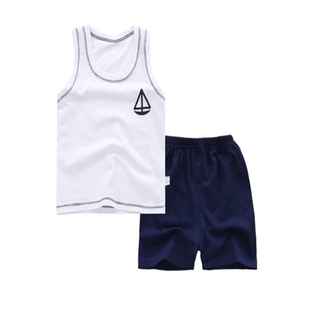 BOBORA 2Pcs Summer Lovely Baby Boy Girls Unisex Cotton Cartoon Animal Printed T shirt + Short Pants Clothing -