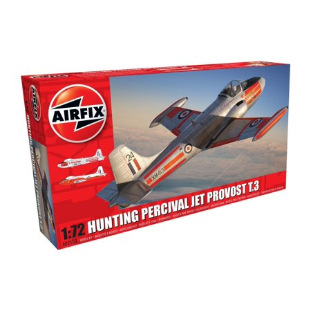 Hunting Percival Jet Provost T.3/T.3A 1:72 Military Aircraft Plastic Model Kit, 1:72nd Scale Royal Air Force Plastic Model Kit By Airfix