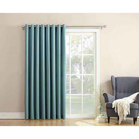 sun zero barrow energy efficient patio door curtain panel mineral 100 x 84. Black Bedroom Furniture Sets. Home Design Ideas