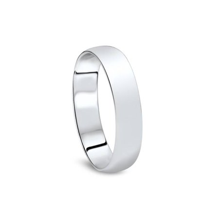 5mm Dome High Polished Wedding Band 10K White Gold - image 1 of 2