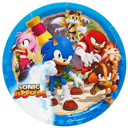 Sonic Boom Sonic The Hedgehog Party Supplies 8 Pack Lunch Plates