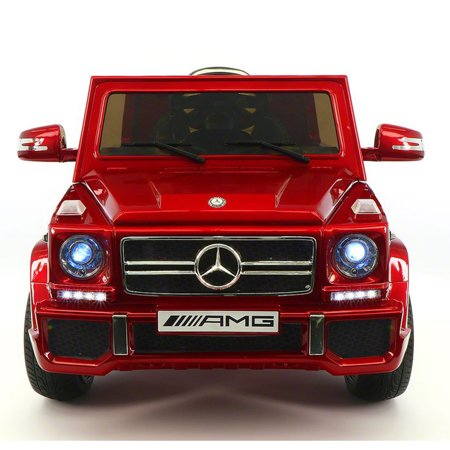 2018 LICENSED MERCEDES G65 AMG ELECTRIC KIDS RIDE-ON CAR, MP3 PLAYER, AUX INPUT, EVA FOAM RUBBER TIRES, PU LEATHER SEAT WITH 5 POINT SAFETY HARNESS, 12V BATTERY, PARENTAL REMOTE | RED