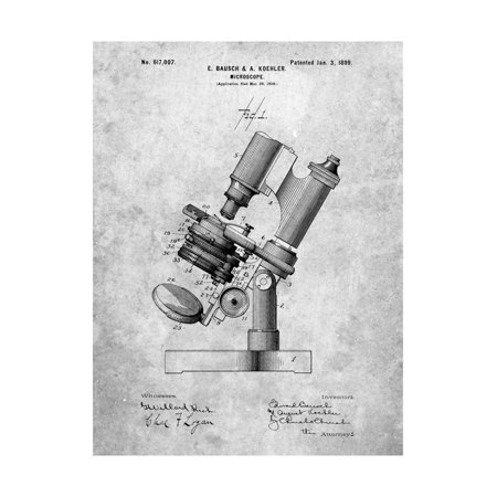 Bausch and Lomb Microscope Patent Print Wall Art By Cole Borders Bausch And Lomb Microscopes