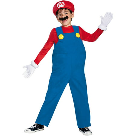 Mario Bros Deluxe Child Halloween Costume - Super Mario Bros. Costumes For Halloween