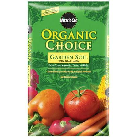 Miracle gro organic choice garden soil for Soil home depot