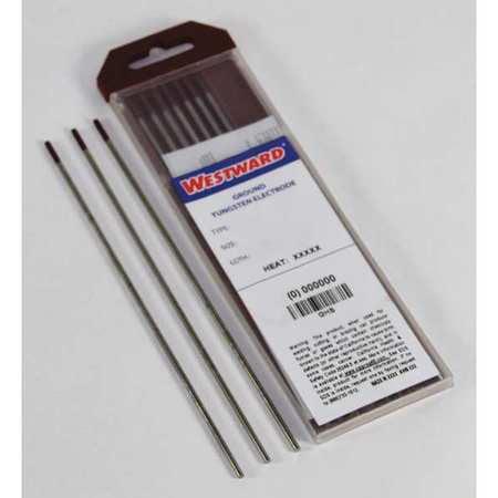 WESTWARD Welding Electrode,TE3Z,1/16in.dia.,PK10 31GH74