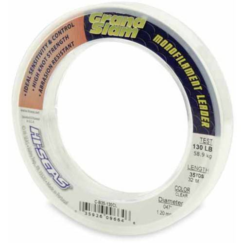 American Fishing Wire Grand Slam Leader, 130-Pound, Clear, 35 Yards