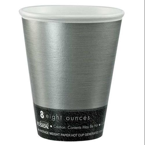 DART 89U8FS Disposable Cup, 8 oz., Silver, PK1000