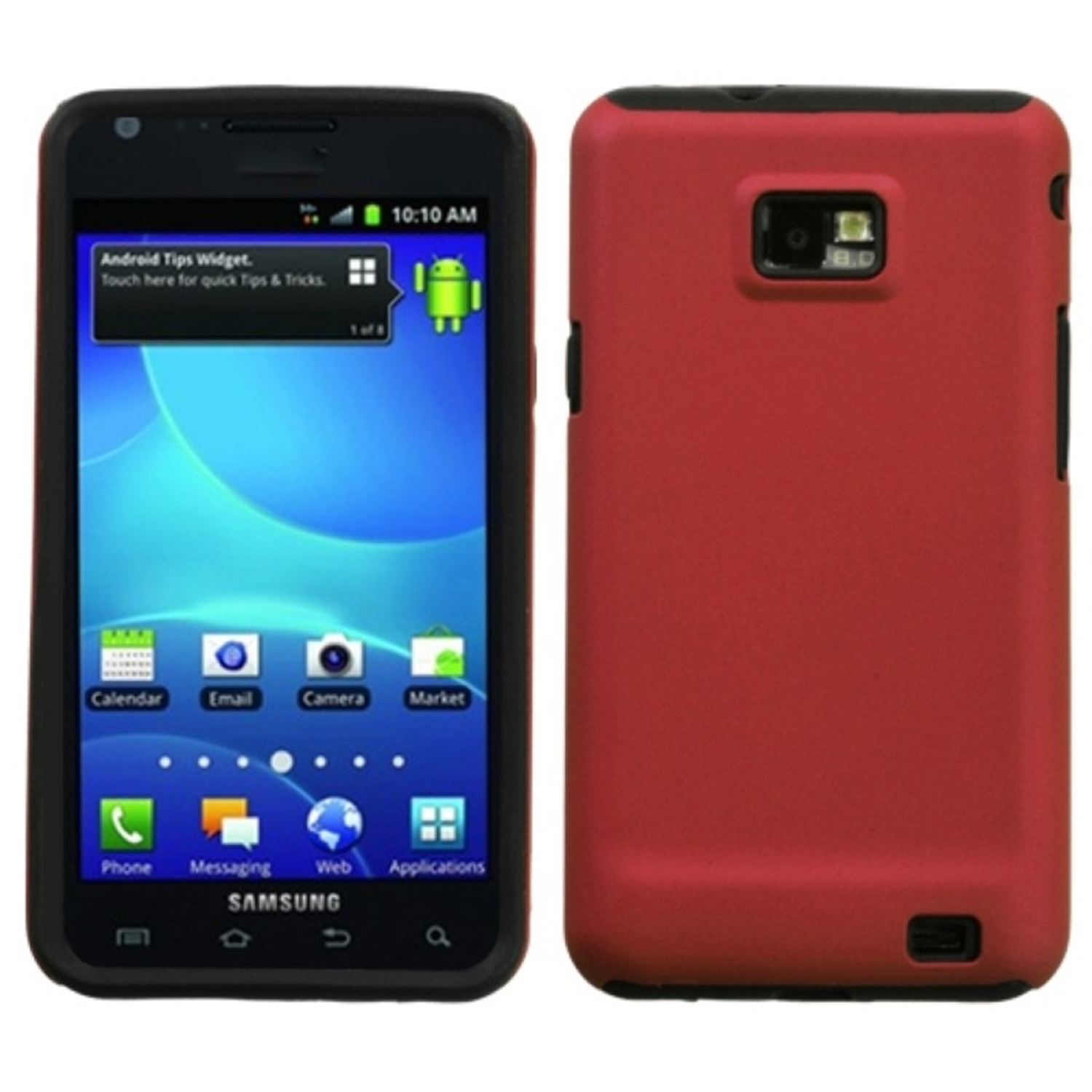 Insten Titanium Solid Red Fusion Case for SAMSUNG: I777 (Galaxy S II)