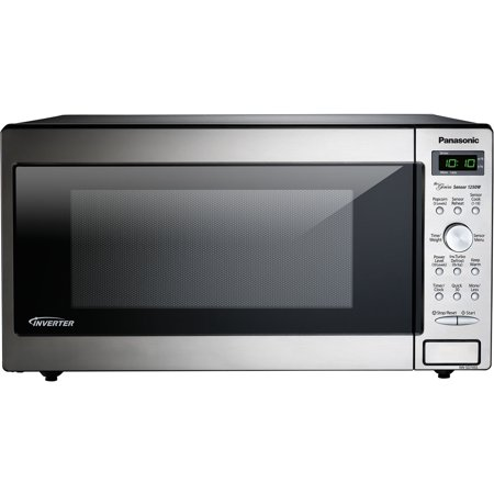 Panasonic Genius Sensor 1.6 Cu. Ft. 1250W Countertop/Built-In Microwave Oven with Inverter