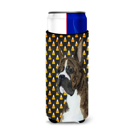 Boxer Candy Corn Halloween Portrait Ultra Beverage Insulators for slim cans SS4301MUK - Halloween Candy Needles 2017