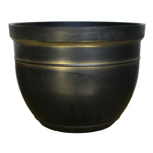 "ATT SOUTHERN INC CMX-040200 19"" Black/Gold Madison Planter"