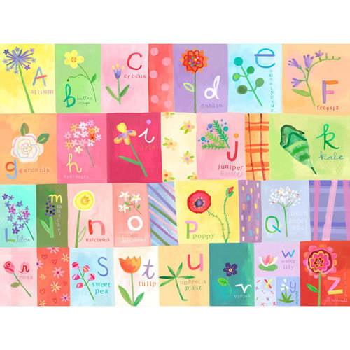 Oopsy Daisy - A-Z Flowers Canvas Wall Art 40x30, Jill McDonald