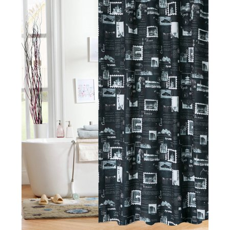 World Traveler Fabric Shower Curtain ()
