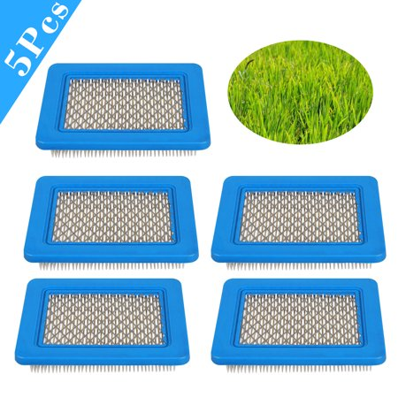 5-pack Air Filter Replacement for Craftsman Lawn Mower Yard Vacuum Tiller, such as: Briggs & Stratton 491588 491588s 5043 5043D 399959 119-1909 (Craftsman Air)