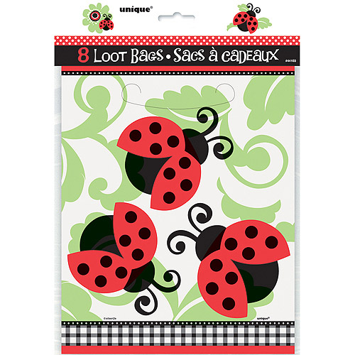 Ladybug Party Favor Bags, 8pk
