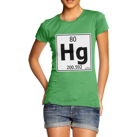Womens T Shirt Periodic Table Element Hg Mercury Novelty Gifts For