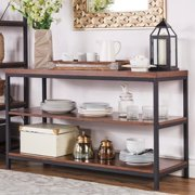 iNSPIRE Q Somme Rustic Metal Frame Storage Sofa Table TV Stand by  Classic