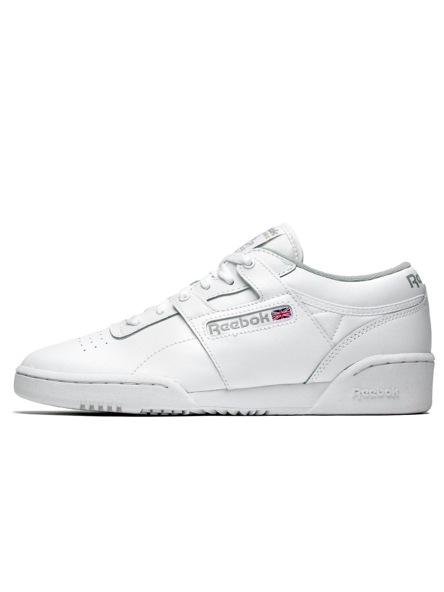 Mens Reebok Workout Low White Grey CN0636 by