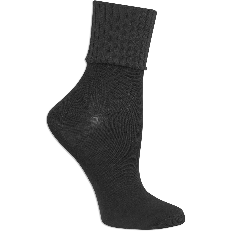 No Boundaries Women's Turn Cuff Socks 3 Pack
