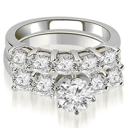 2.75 CT.TW Prong Set Round Cut Diamond Bridal Set in 14K White, Yellow Or Rose Gold