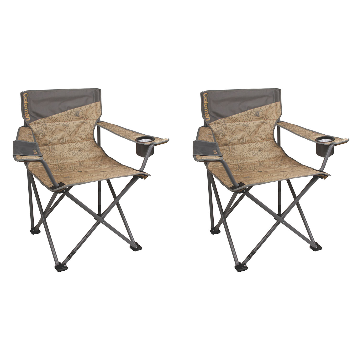 Ordinaire Coleman Oversized Big N Tall Quad Camping Chairs (2 Pack) | 2