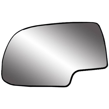 88058 - Fit System 99-07 Cadillac Escalade / Chevrolet Silverado and Suburban / GMC Sierra, Tahoe and Yukon Replacement Mirror Glass with backing plate, Driver Side - check description for fitment