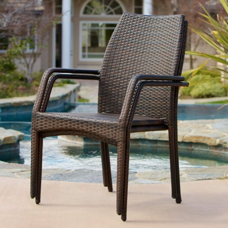 Canoga All-Weather Wicker Dining Chair - Set of 2 ()