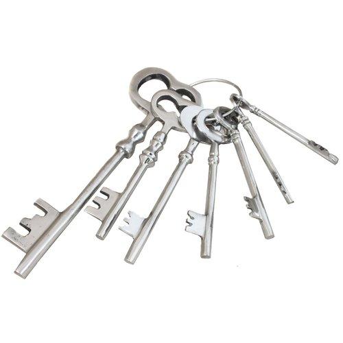 EC World Imports 7 Piece Reproduction Aluminum Jailer Key Set by ecWorld