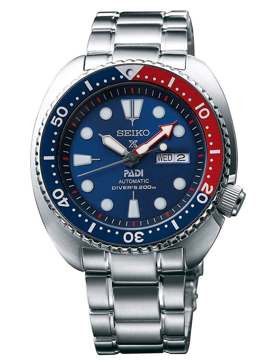 Seiko SRPA21 Men's Prospex PADI Blue Dial Steel Bracelet Automatic Dive Watch by Seiko