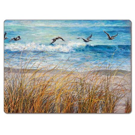 CounterArt Beach Watch Hardboard 12'' Placemat (Set of 2) - Beach Placemats