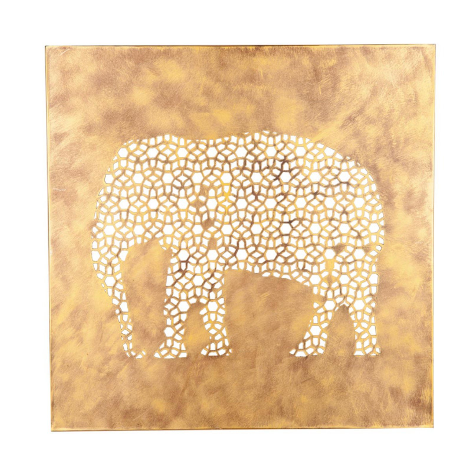 Foreside Home and Garden Elephant Screen Wall Art