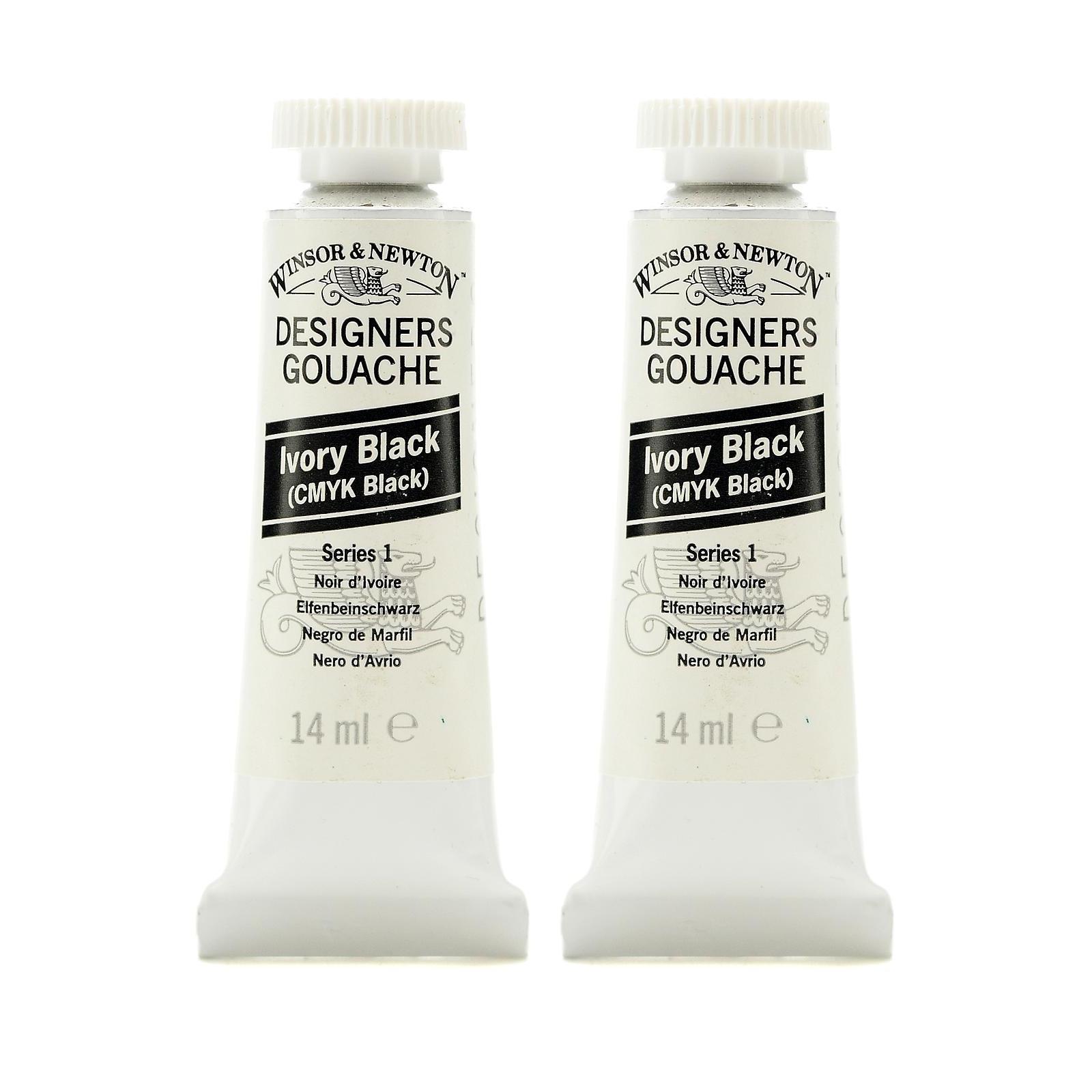Designers' Gouache ivory black, 14 ml, 331 (pack of 2)