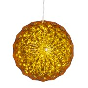 Christmas sphere lights 6 yellow led lighted hanging christmas crystal sphere ball outdoor decoration mozeypictures Image collections
