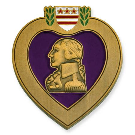 (PinMart's Purple Heart Veteran Medal Military Enamel Lapel Pin)