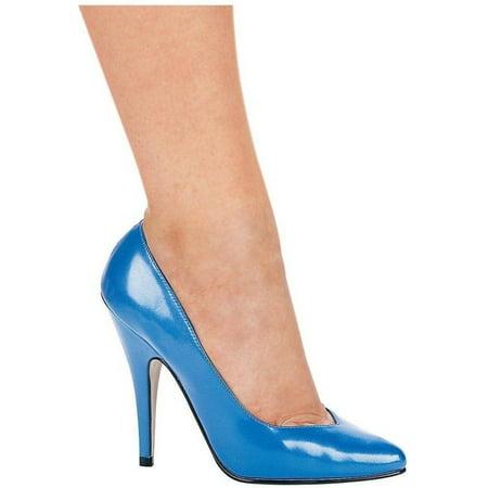 Ellie Shoes E-8220 5 Heel Pumps Blue / 6 - Shoes By Ellie