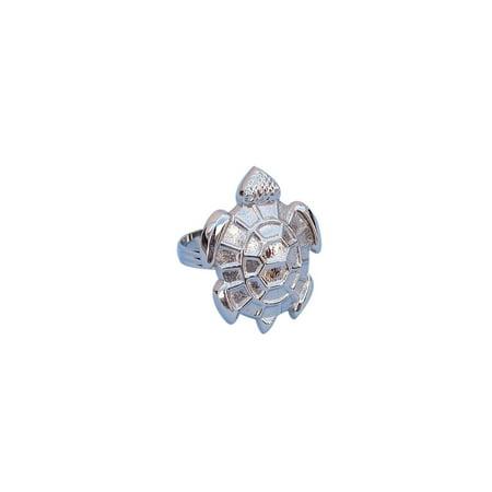 Chrome Turtle Napkin Ring 3