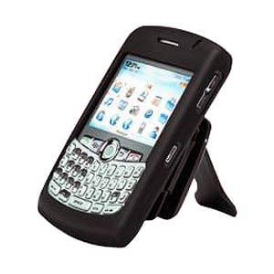 Blackberry Case, Silicone Gel Skin Soft Rubberized Case with Belt Clip Kickstand for BlackBerry 8320, BlackBerry 8300 curve, BlackBerry 8300,BlackBerry 8310 - Black Set Curve Kicks