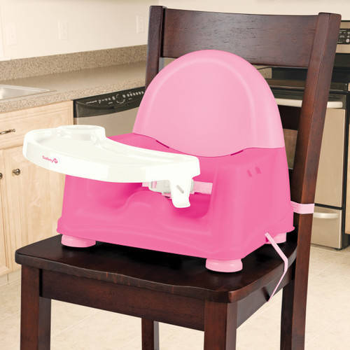 Safety 1st Easy Care Swing Tray Feeding Booster, Carnation