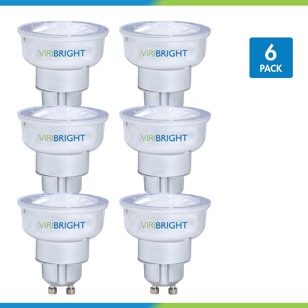 Viribright 35 Watt Replacement MR16 LED Light Bulb (6 pack), GU10 Base, 2700K Warm White