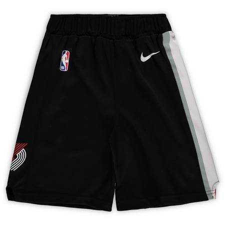 Portland Trail Blazers Nike Preschool Icon Replica Team Shorts - Black