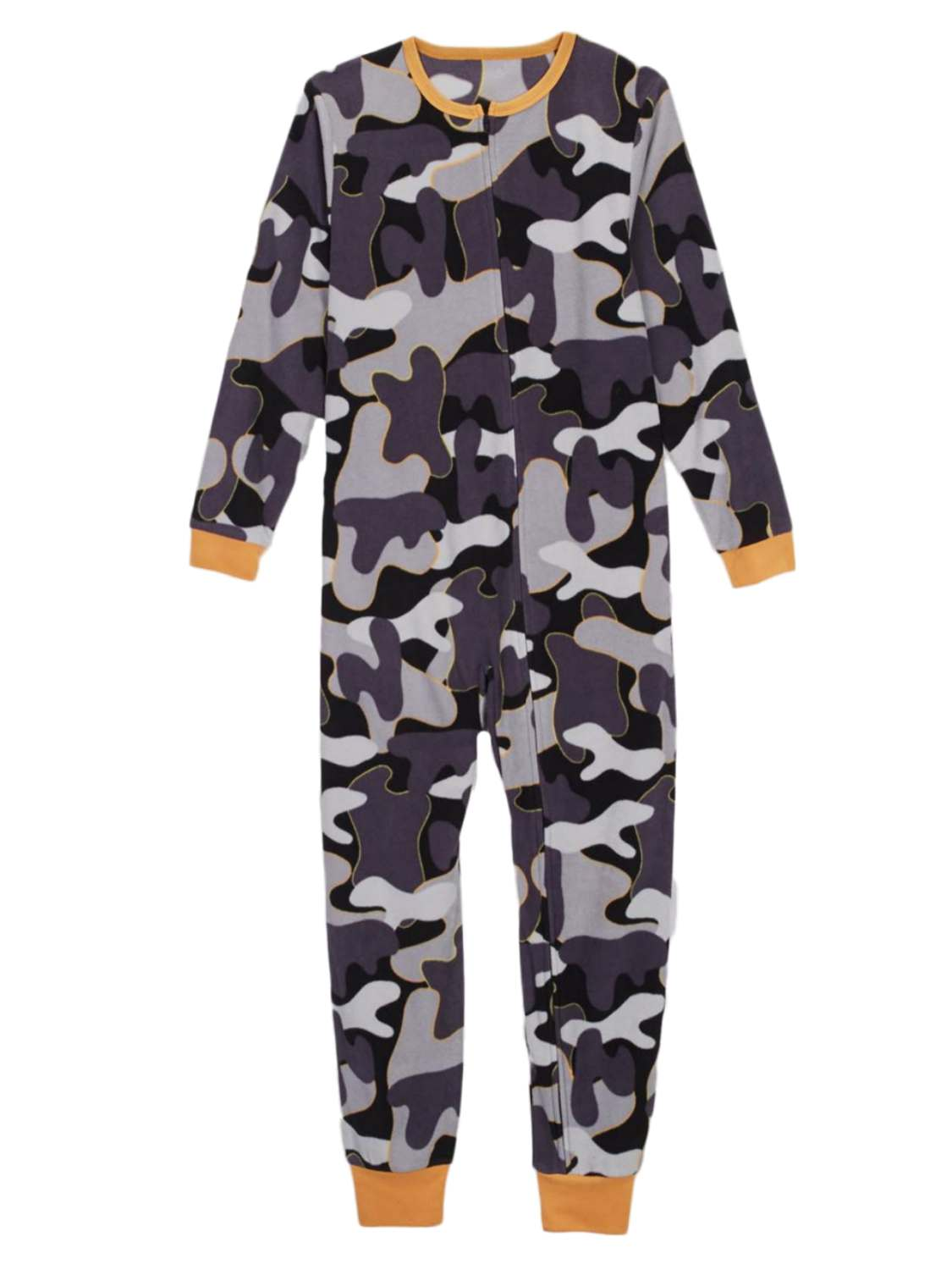 Boys Winter Camouflage Fleece Blanket Sleeper Union Suit