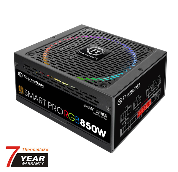 TT SMART PRO 850W FULL-MODULAR ATX 80+ BRONZE RGB (067239) - image 2 of 2
