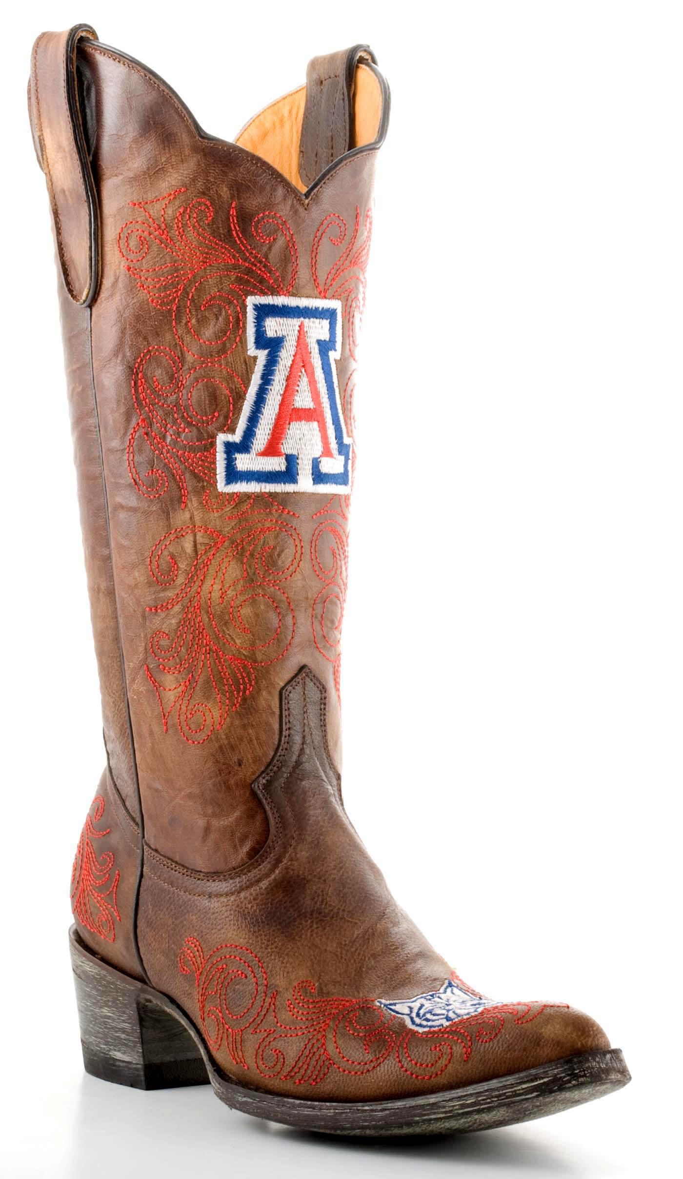 "Gameday Boots Womens 13"" Tall Leather University Of Arizona Cowboy Boots by GameDay Boots"