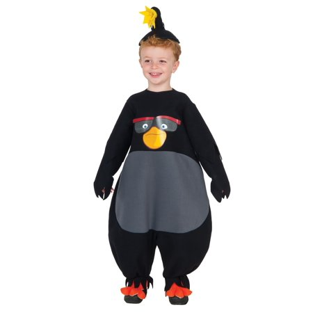 Toddler Black Angry Birds Costume - Angry Bird Toddler Costume