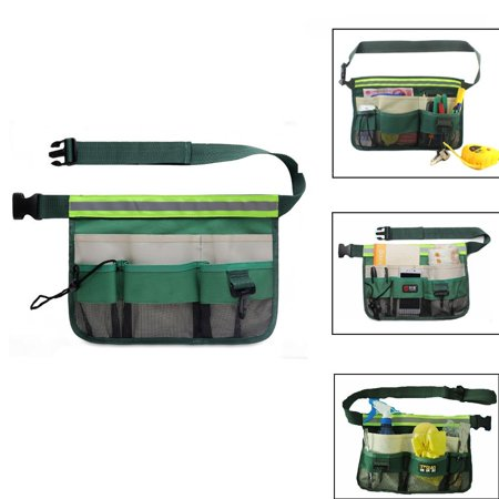 7 Pockets Adjust Waist Wallet Pockets Apron 46-inch Long for Kitchen Cooking Restaurant Bistro Craft Garden Outdoor Hiking Camping Hunting Shopping Tactical Waist, Light Waterproof, Green